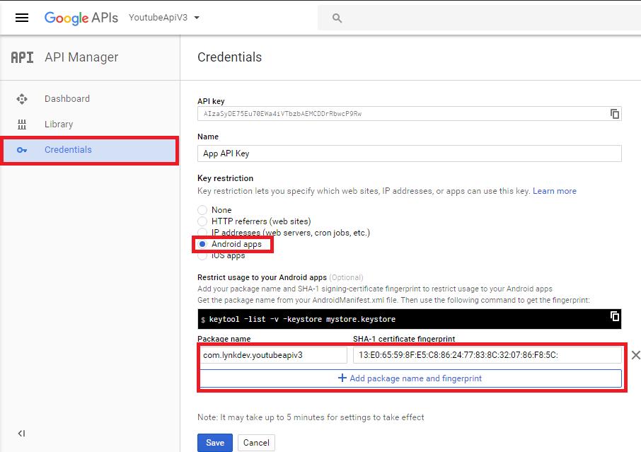 Hướng dẫn cách tích hợp youtube api v3 vào ứng dụng android